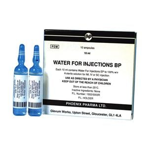 InjectablesWater for injection 10ml Glass ampoule - 10 ampoules