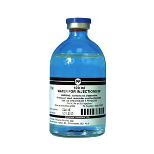 InjectablesWater for injection 100ml Glass vial single