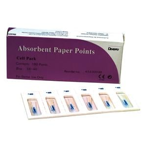 Detrey Paper Points Sterile Assorted 15-40 180pk