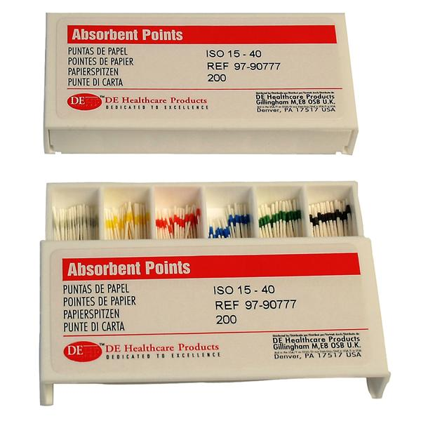 DEHP Paper Points Assorted 15-40 200pk