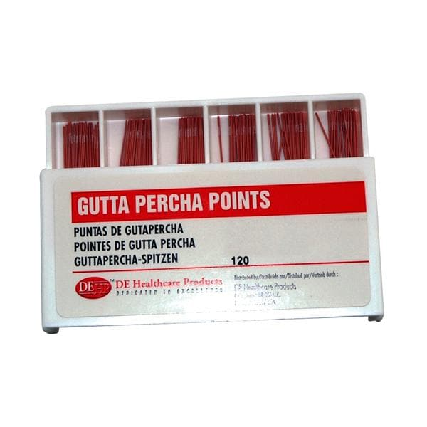 DEHP Gutta Percha Points Assorted 15-40 120pk