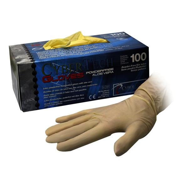 Cybertech Latex Super Soft Powder-Free Aloe Vera Gloves Small 100pk