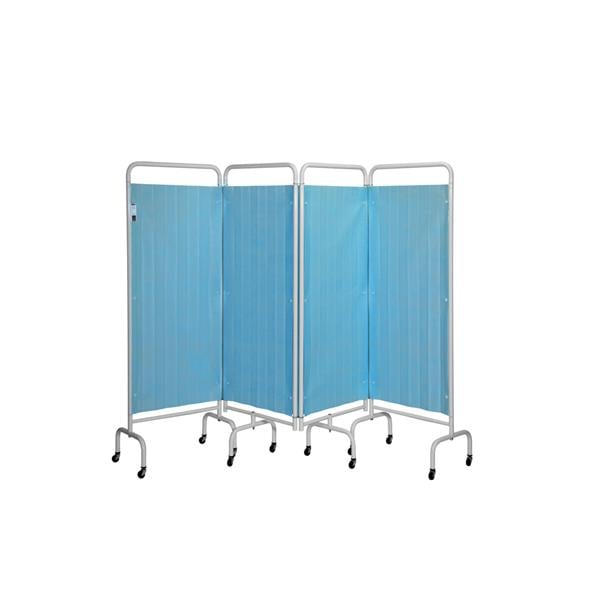 4 Section Screen W/Disposable Curtains Pastel Blue