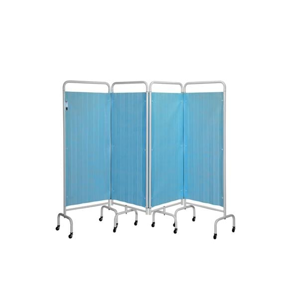 5 Section Screen W/Disposable Curtains Pastel Blue