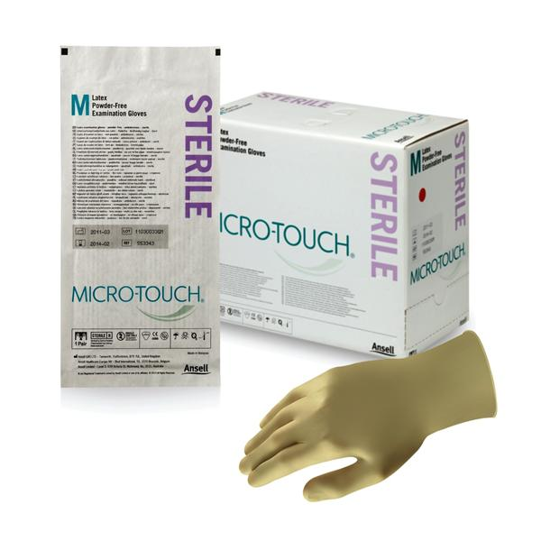 Microtouch Gloves Sterile Latex Powder-Free Medium 50 pairs