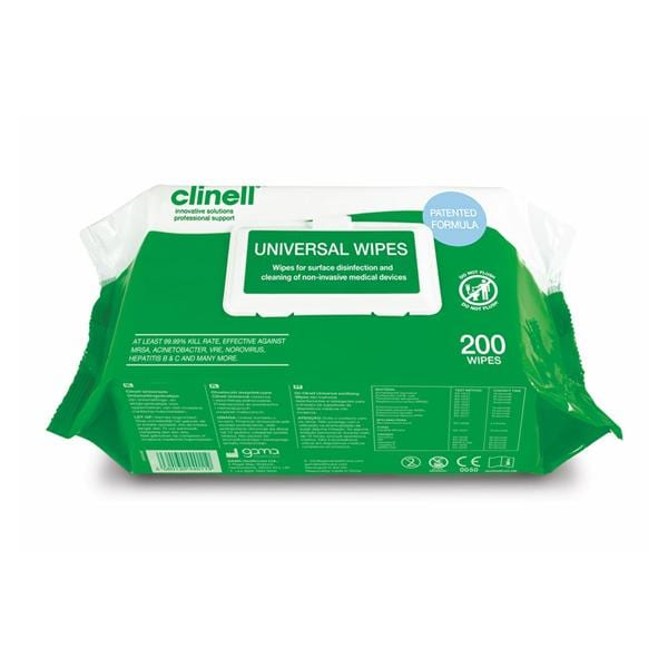 Clinell Universal Cleaning Wipes 200pk