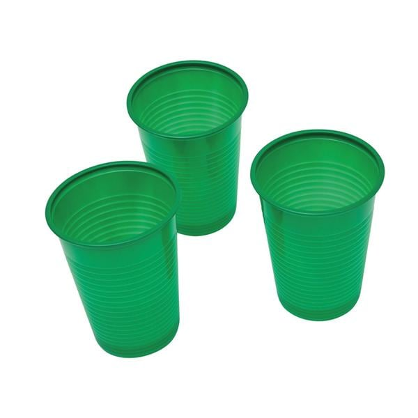 HS Drinking Cup Green 180ml 3000pk