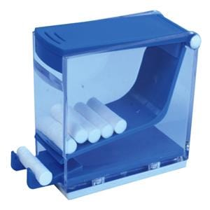 HS Maxima Cotton Roll Dispenser with Pusher Blue
