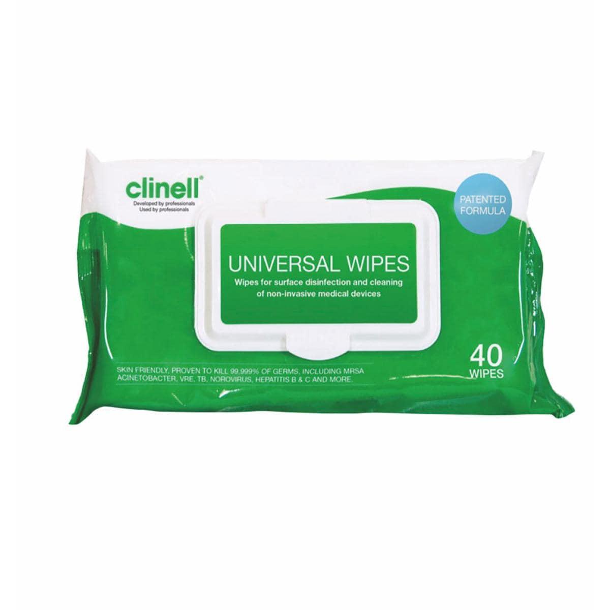 Clinell Universal Sanitising Wipes 40pk