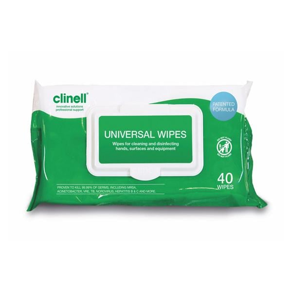 Clinell Universal Sanitising Wipes 40pk