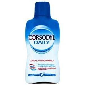 Corsodyl Daily Defence M/Wash C/Mint A/free 500ml