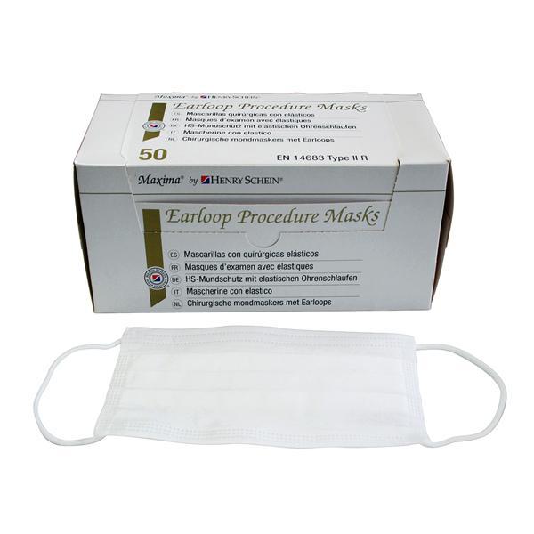 Mask Face Schein Sensitive Hs Maxima Earloop Henry 50pk - White