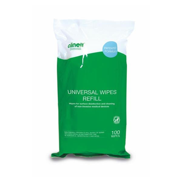 Clinell Universal Sanitising Wipes Refill 100pk