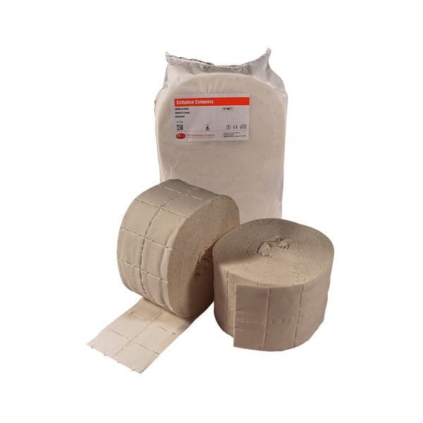 DEHP Cellulose Compress 12 ply 4x5cm 500 Roll 2pk