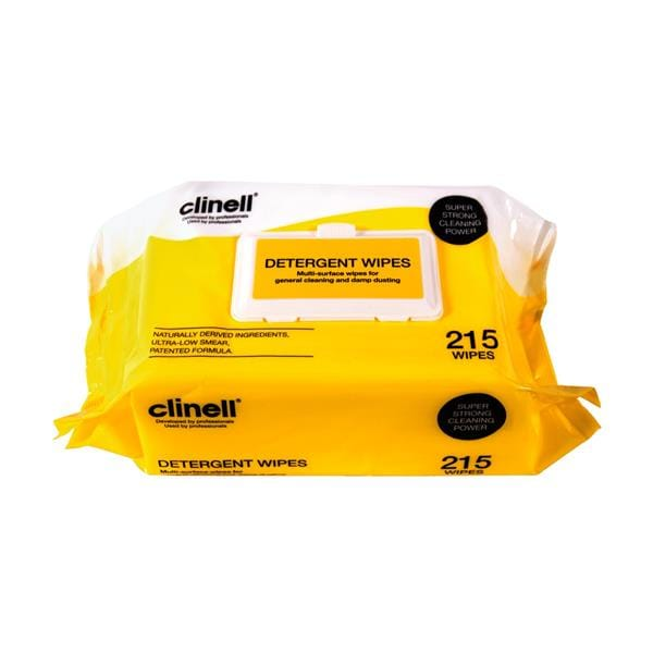 Clinell Detergent Wipes 215pk