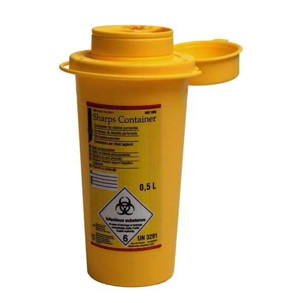 HS Sharps Container 0.5L