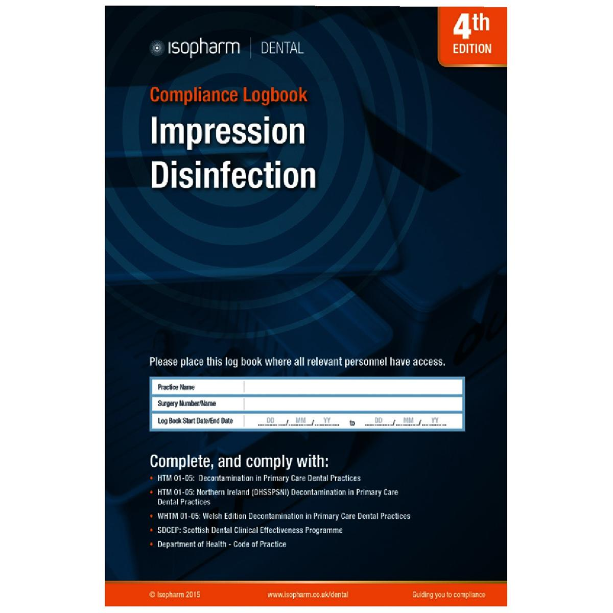 Impression Disinfection Compliance Logbook