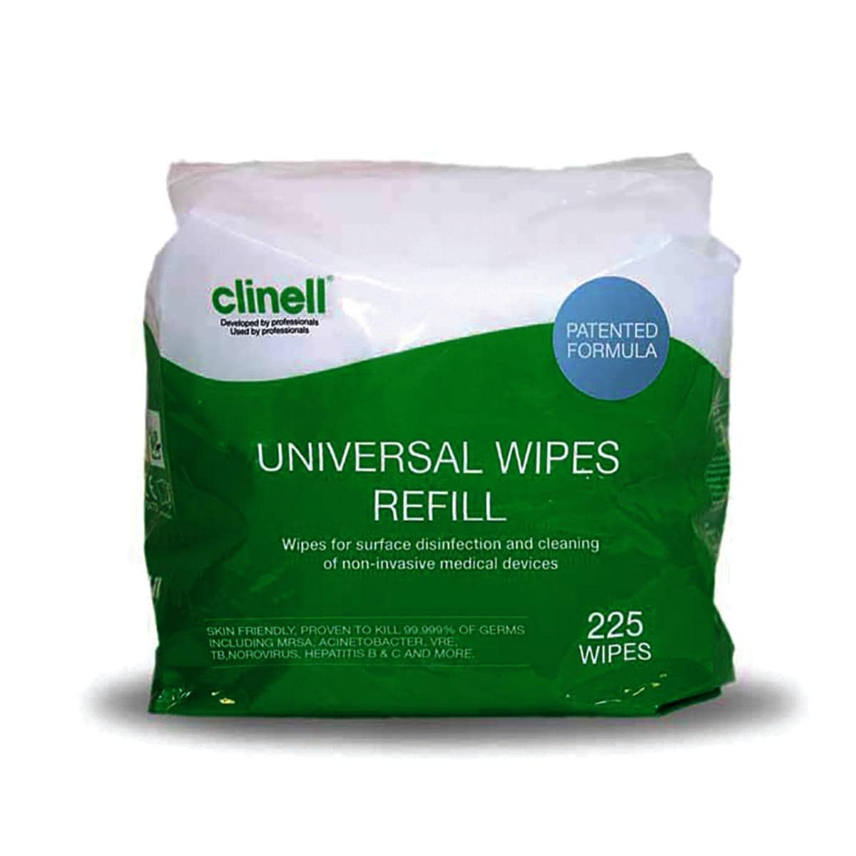 Clinell Universal Bucket Wipes Refill 225pk