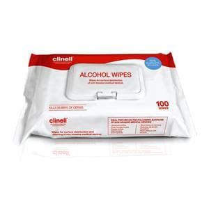 Clinell Alcohol Wipes Large 100pk