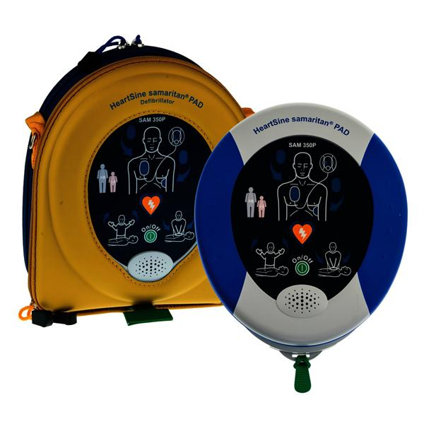 HeartSine Samaritan 500P Semi Automatic Defibrillator with CPR Advisor Bronze Pack inc.Wall Cabinet