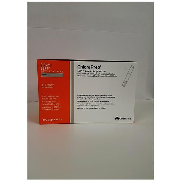 Chloraprep 0.67ml Sepp Applicator 200pk