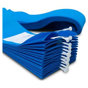 HS Disposable Curtains 4.2x2m Blue w/U Shape Hook