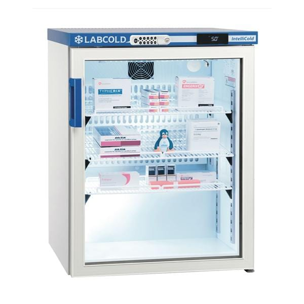 Labcold RLDG0519DIGLOCK Undercounter 150L Glass Door Pharmacy Refrigerator with Digital Lock
