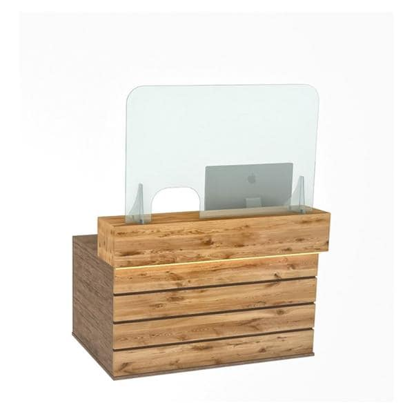 Reception Counter Screen 120x80cm - Left orRight Open - ship direct,approx 7-10 days,non-returnable