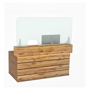 Reception Counter Screen 160x80cm Left or Right Open- Ship direct,lead time 7-10 days-non-returnable