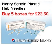 Henry Schein Plastic Hub Needles - Buy 5 boxes for �23.50