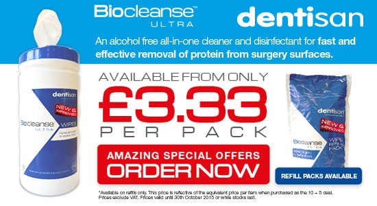 Dentisan Biocleanse Ultra and Wipes